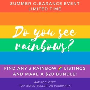 SUMMER CLEARANCE EVENT - 3/$20 LIMITED TIME OFFER